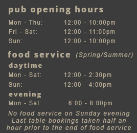 Castle Inn pub, Pevensey Bay - opening hours and food service times